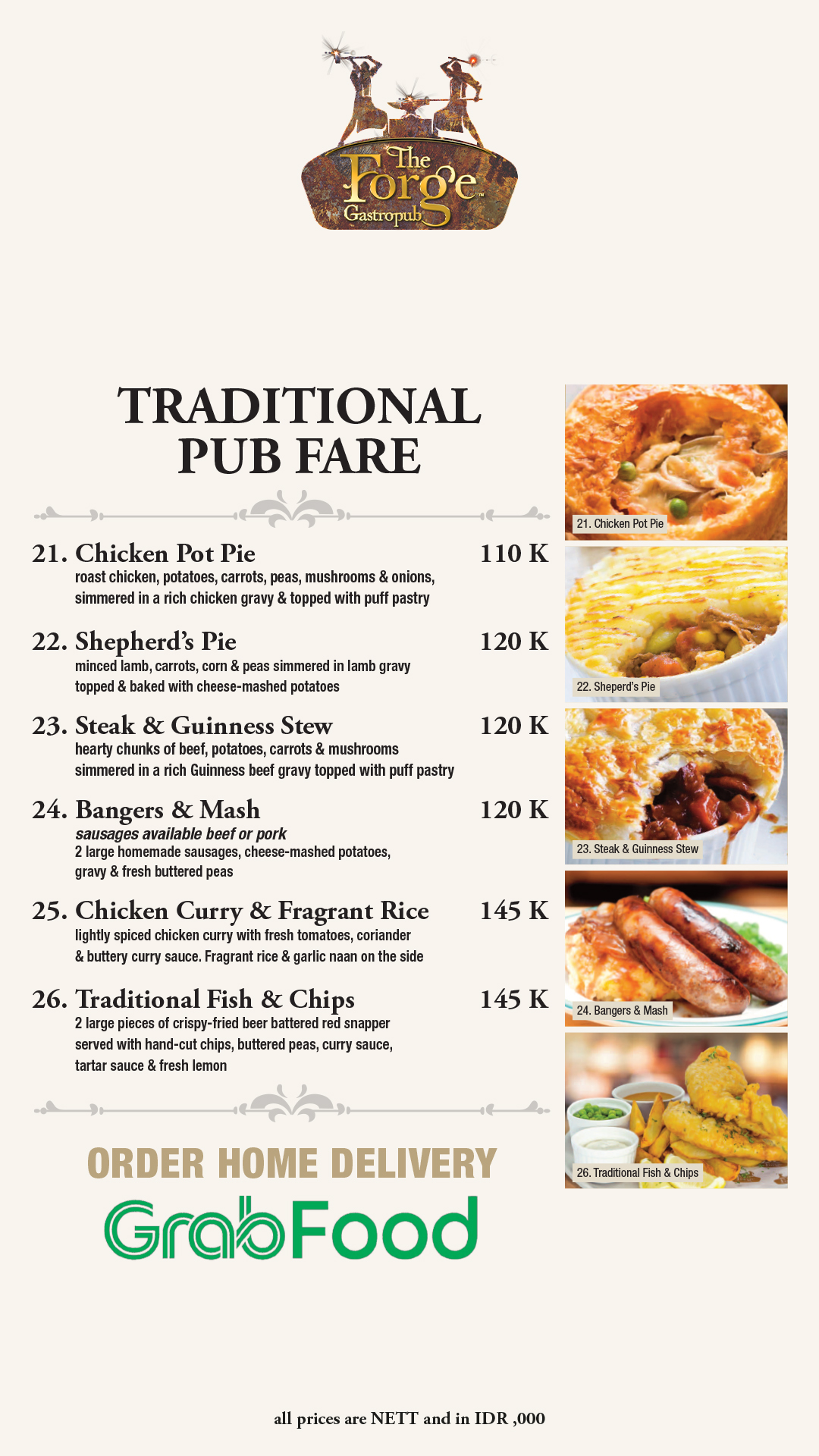 Menu | 04 Traditional Pub Fare