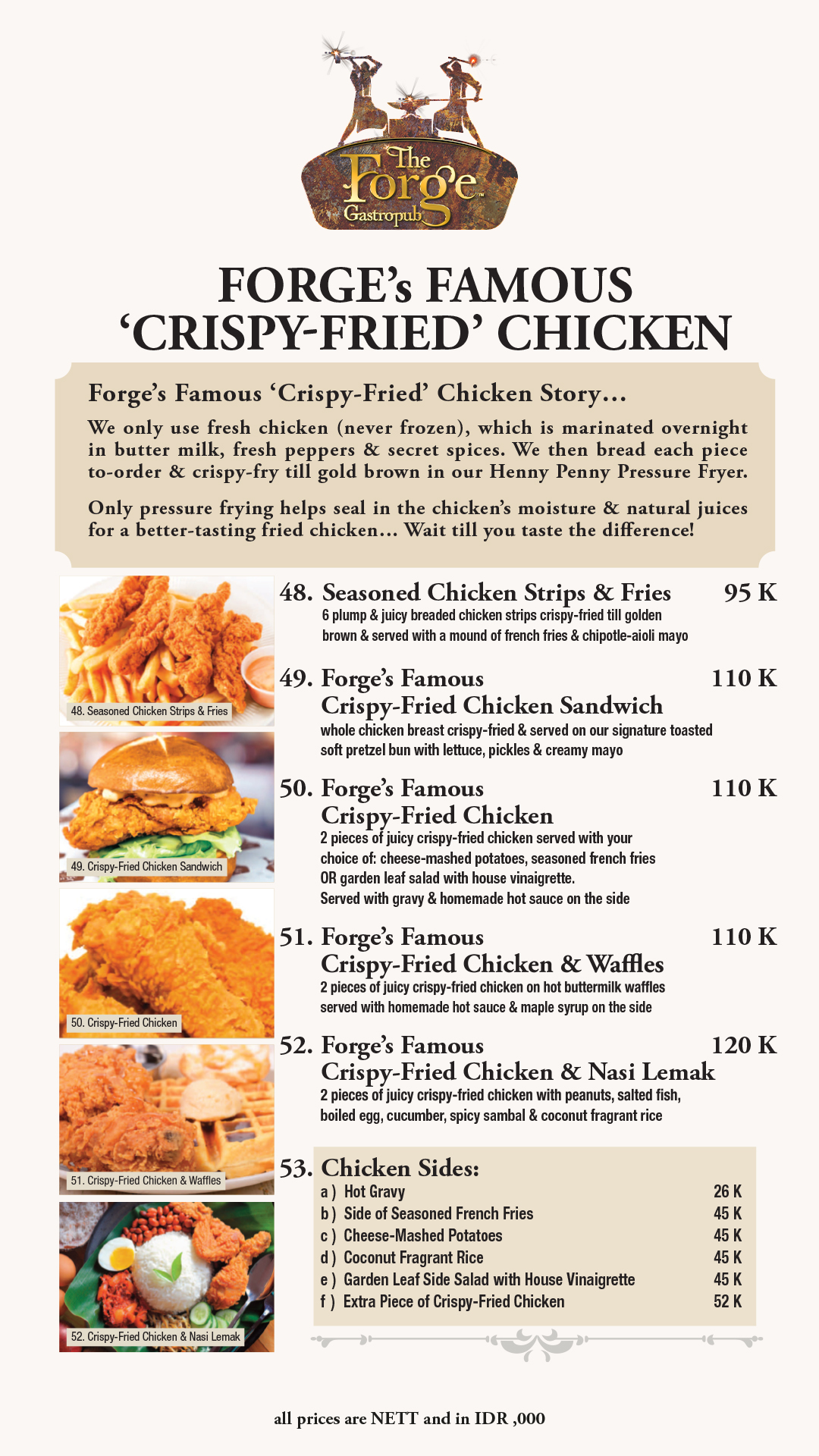 Menu | 07 Forge Famous Crispy Fried Chicken